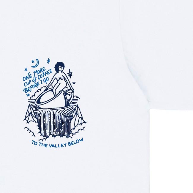 T-shirt en coton bio white coffee - Bask in the Sun num 2