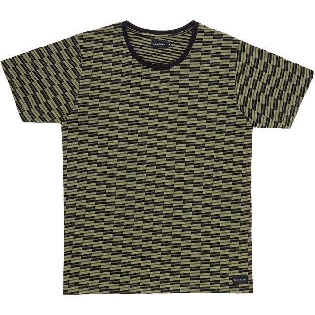 T-shirt en coton bio kaki asur - Bask in the Sun