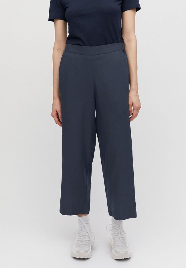 Pantalon ample bleu nuit en tencel - kamalaa - Armedangels num 2