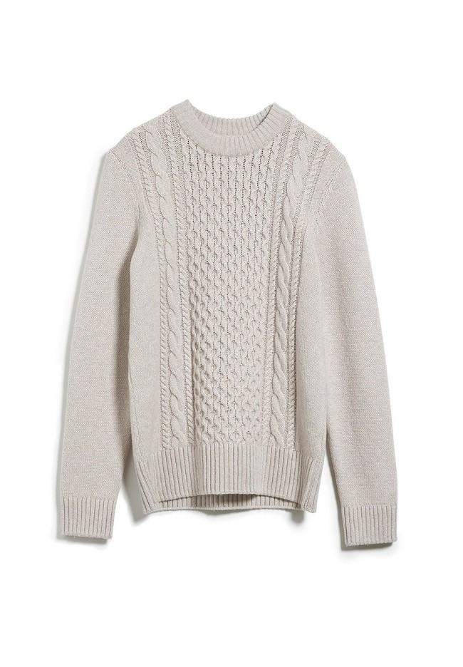 Pull écru en coton et laine bio - caabo - Armedangels num 5