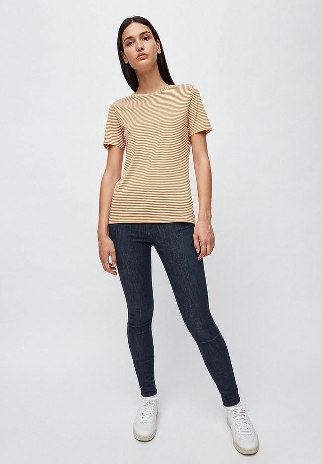 T-shirt rayures ocre en coton bio - lidaa - Armedangels num 2