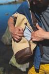 Sac à dos roll top en toile cirée et cuir - bosta - Bhallot - 7