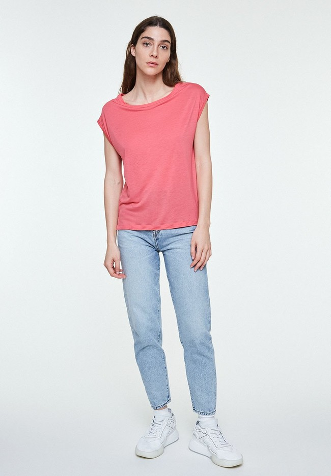 T-shirt uni rose en tencel - jilaa - Armedangels num 3
