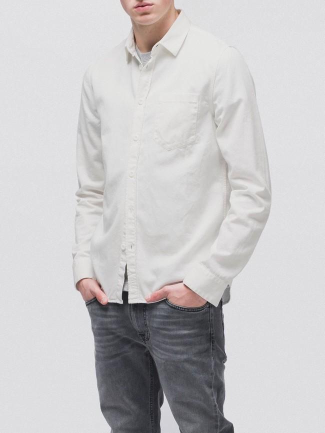 Chemise blanche en coton bio - henry - Nudie Jeans num 2