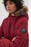 Manteau long rouge en polyester recyclé - livorno - Ecoalf - 3
