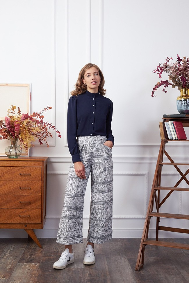 Pantalon kool losange b&w - Les Récupérables