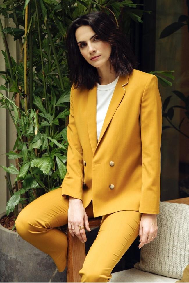 Pantalon tailleur new-york jaune safran - 17h10 num 4