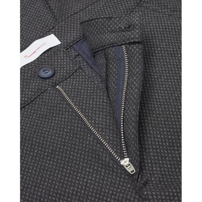 Chino slim gris à motifs en polyester recyclé - Knowledge Cotton Apparel num 2