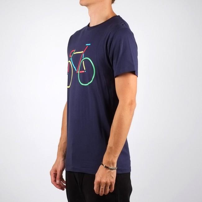 T-shirt vélo multicolore en coton bio - Dedicated num 1