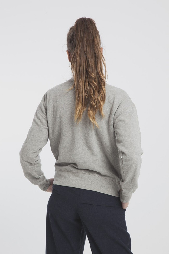 Sweat gris en coton bio - l'amour - Thinking Mu num 3