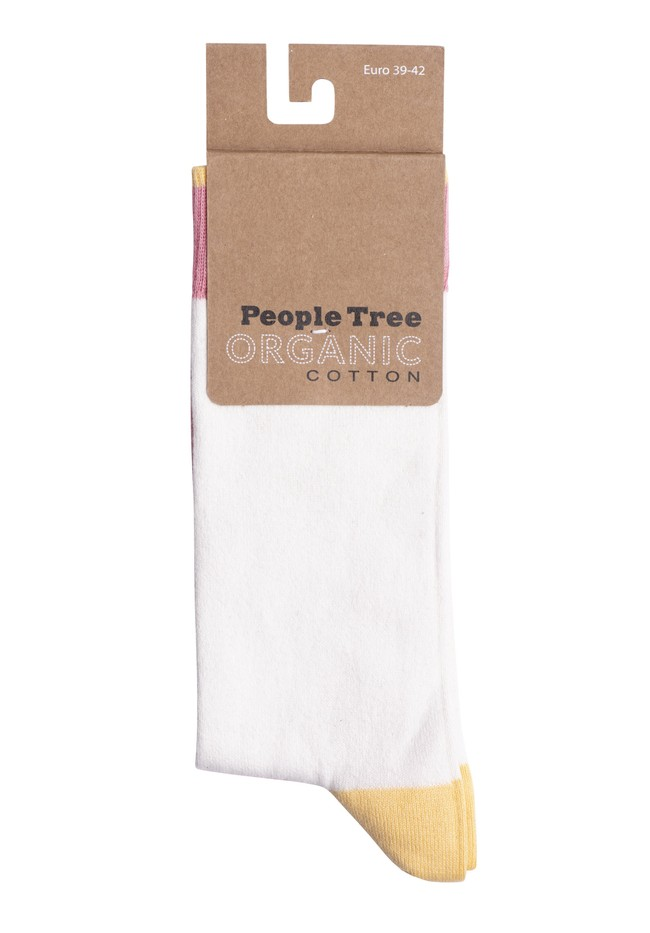 Chaussettes multicolores en coton bio - People Tree