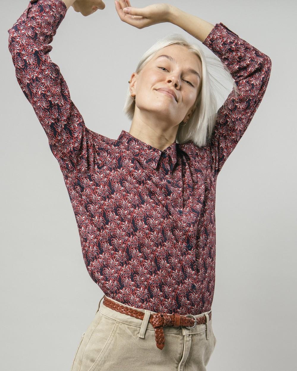 Golden flower printed blouse - Brava Fabrics