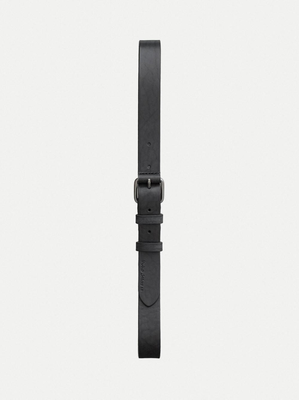 Ceinture noire en cuir tannage végétal - dwayne - Nudie Jeans