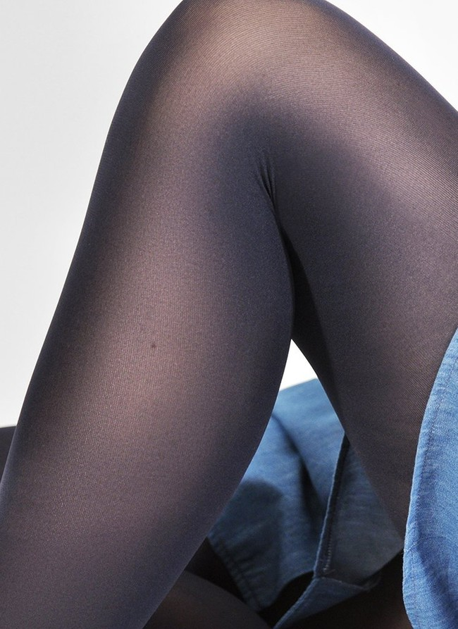 Collants 60 deniers marine recyclés - olivia - Swedish Stockings num 2