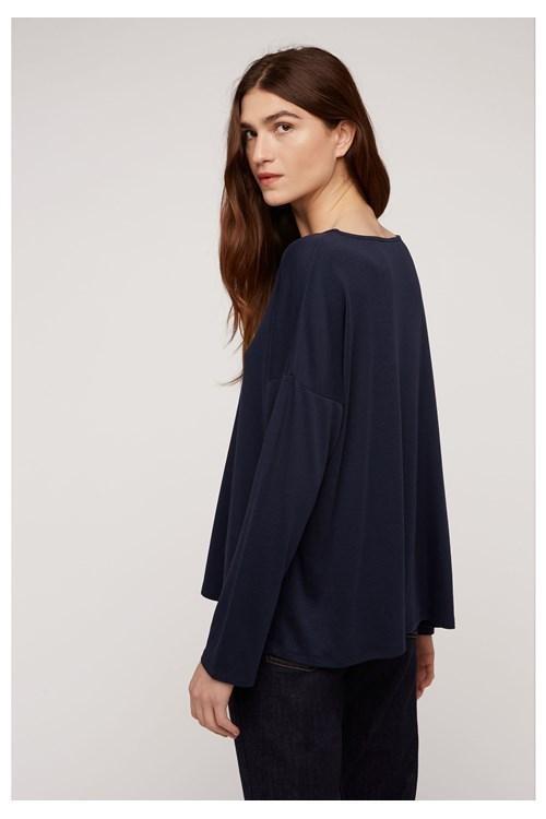 T-shirt à manches longues marine en tencel et coton bio - leigton - People Tree num 1