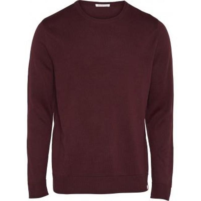 Pull bordeaux en coton bio - mercerized knit - Knowledge Cotton Apparel