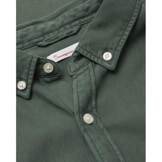 Chemise vert forêt en tencel et coton bio - larch - Knowledge Cotton Apparel num 3