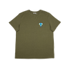 T-shirt kaki en lyocell • éléphant turquoise - Omnia in uno - 3