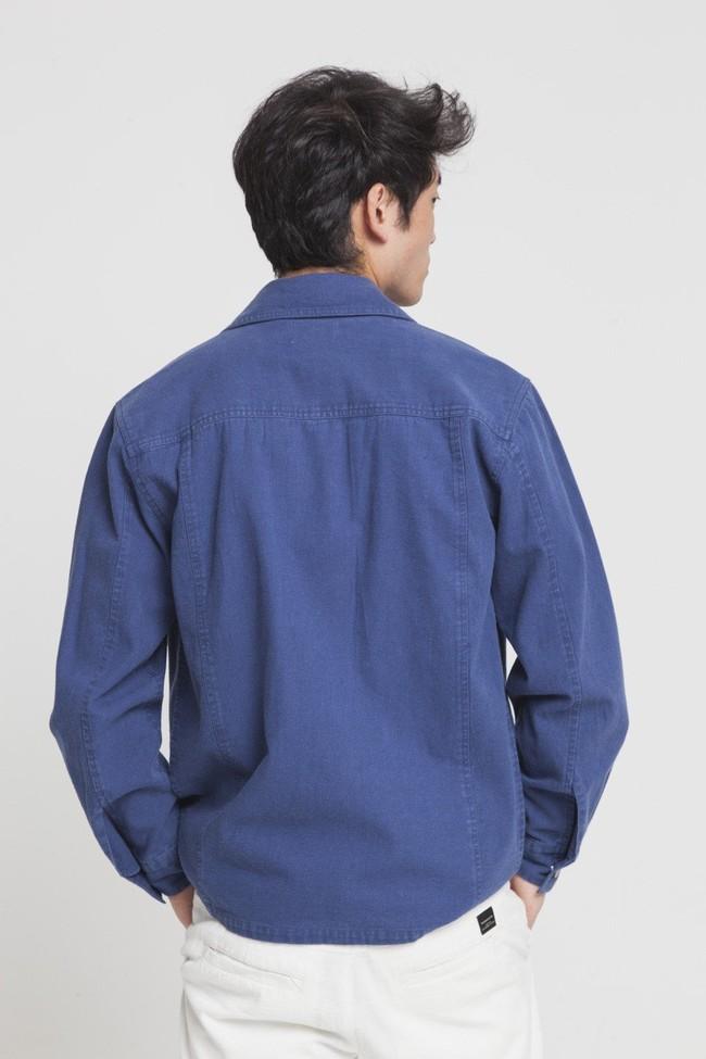 Veste bleue en coton bio - blue james - Thinking Mu num 1