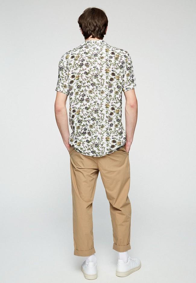 Chino ample beige en coton bio - taadeo - Armedangels num 1