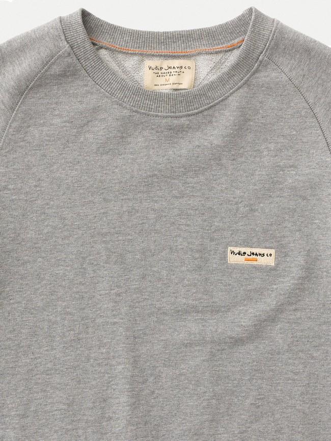 Sweat gris en coton bio - samuel - Nudie Jeans num 5