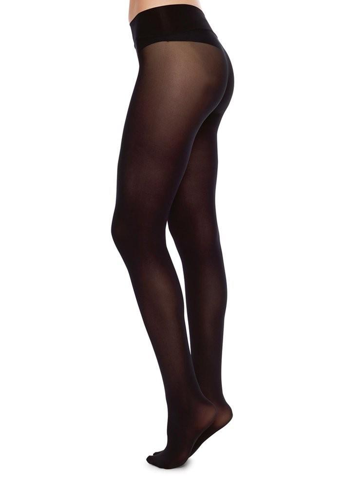 Collants sans coutures 40 deniers noirs recyclés - hanna - Swedish Stockings