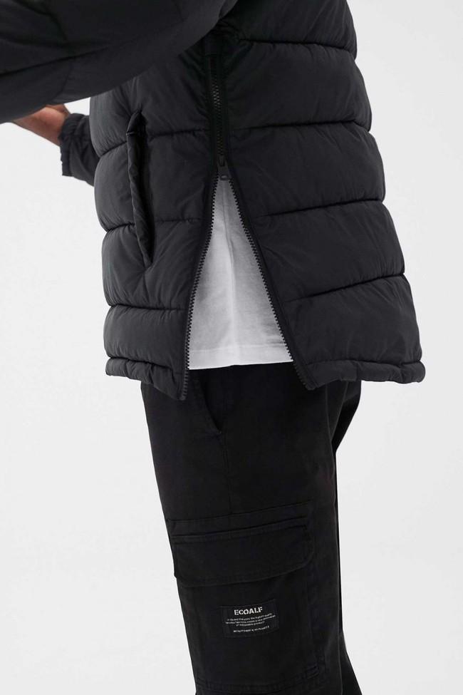 Doudoune à capuche noire en polyester recyclé - luke kangaroo - Ecoalf num 3
