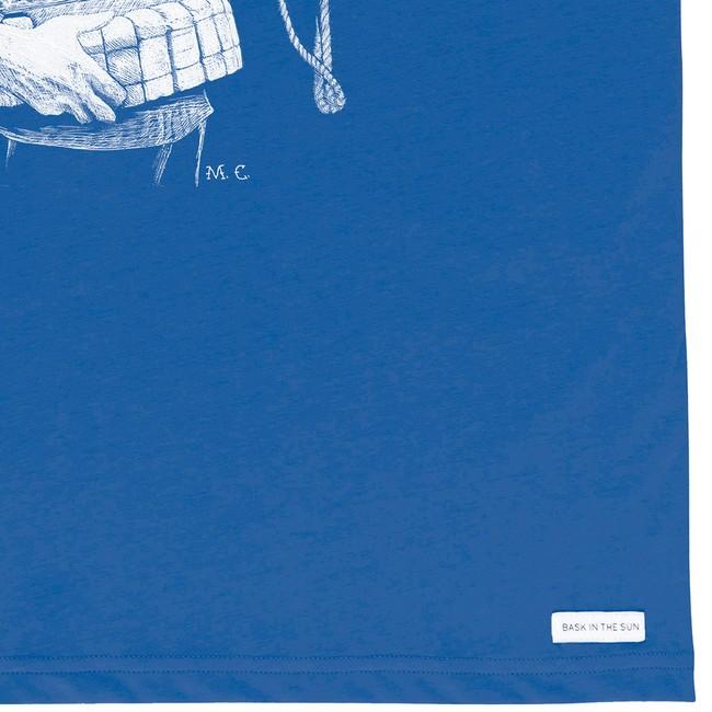 T-shirt en coton bio blue walrus - Bask in the Sun num 3
