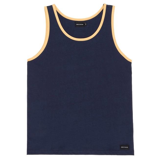 T-shirt en coton bio navy teofilo - Bask in the Sun