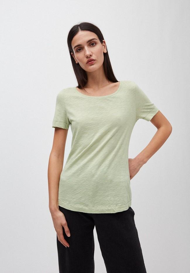 T-shirt vert pâle en coton bio - johannaa - Armedangels