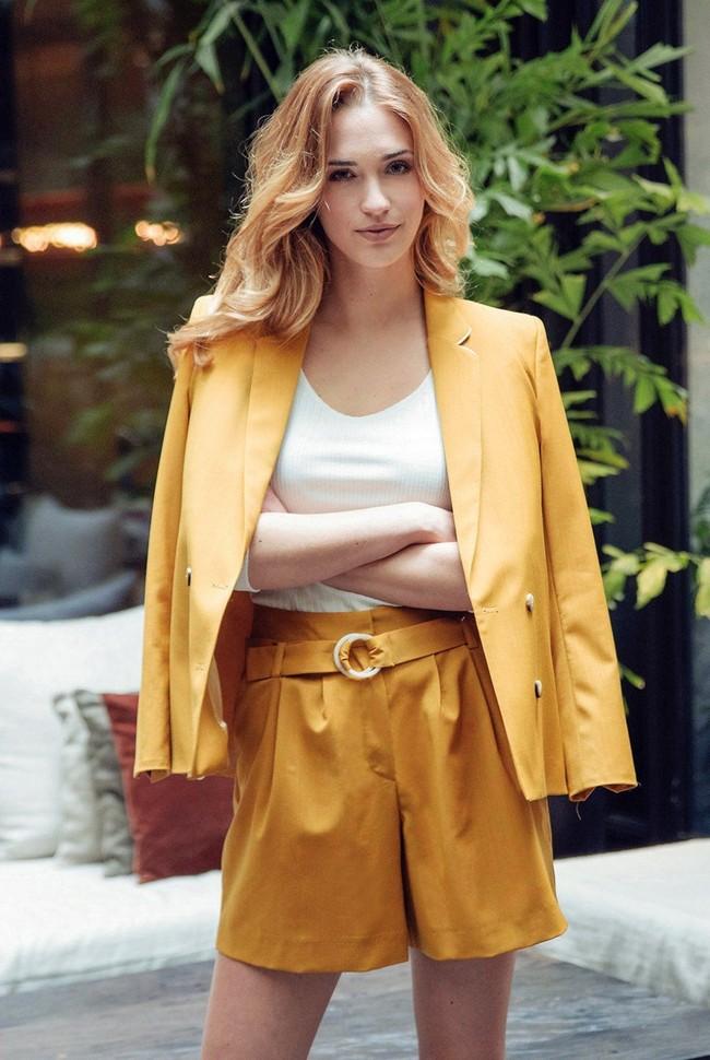 Short tailleur rome jaune safran - 17h10