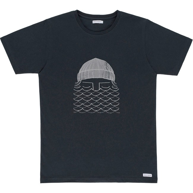 T-shirt en coton bio black to the sea - Bask in the Sun