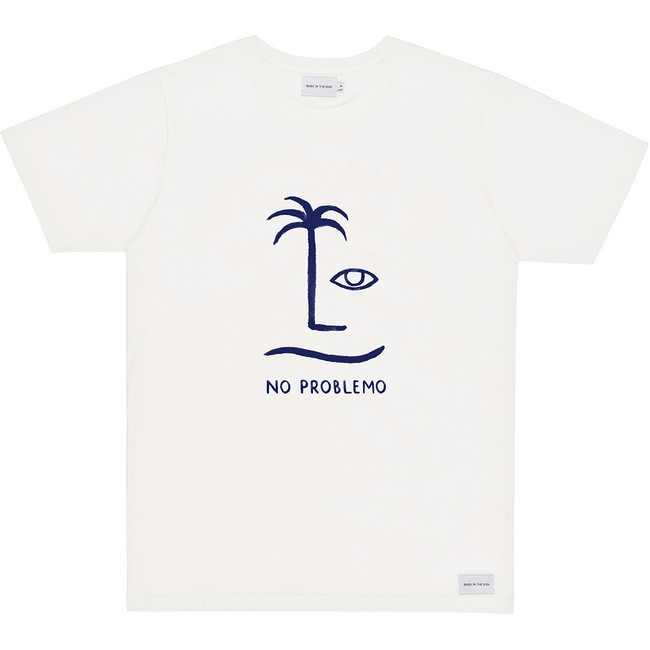 T-shirt en coton bio natural no problemo - Bask in the Sun
