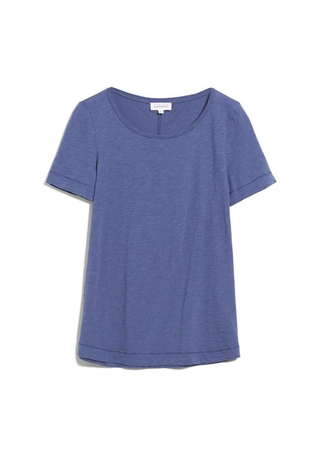 T-shirt bleu indigo en coton bio - johannaa - Armedangels num 4