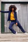 Pantalon tailleur berlin bleu marine - 17h10 - 1