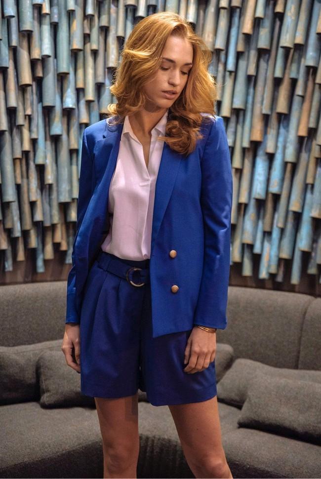 Short tailleur rome bleu royal - 17h10 num 2
