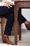 L'authentique marine - pantalon droit en coton biologique - C. Bergamia - 5