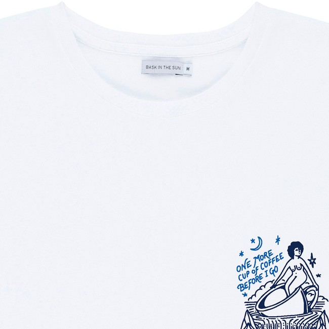 T-shirt en coton bio white coffee - Bask in the Sun num 1