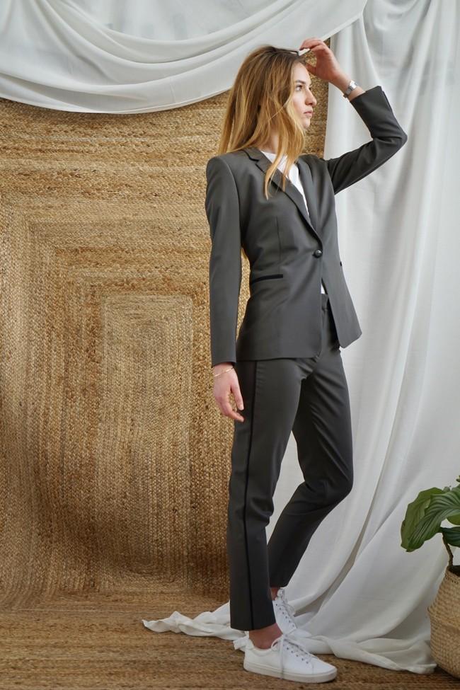 Pantalon tailleur new-york taupe - 17h10 num 2