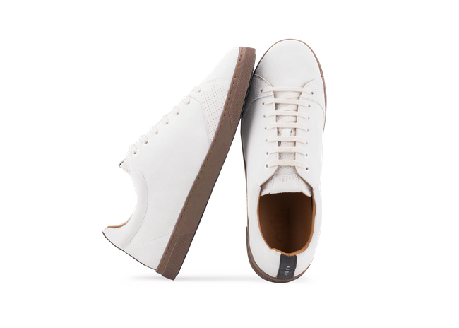 Chaussure en gravière suède off-white / semelle cappuccino - Oth num 1