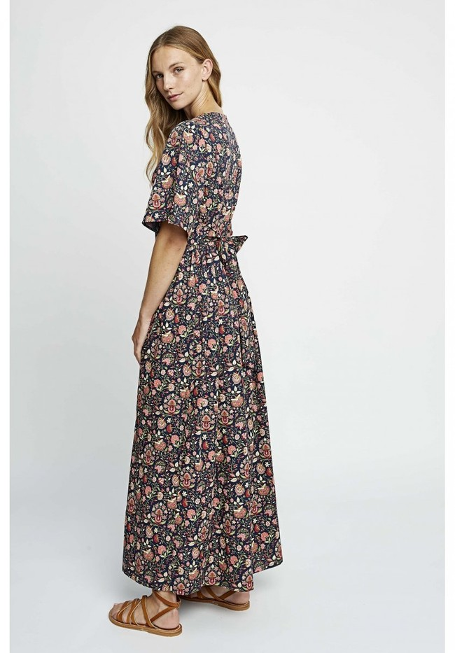 Robe longue imprimé floral en tencel - yasmin print maxi dress - People Tree num 2