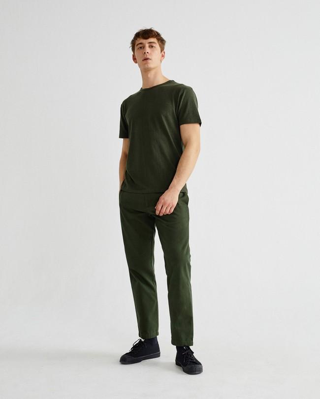 T-shirt vert forêt en chanvre et coton bio - mo2 - Thinking Mu num 1