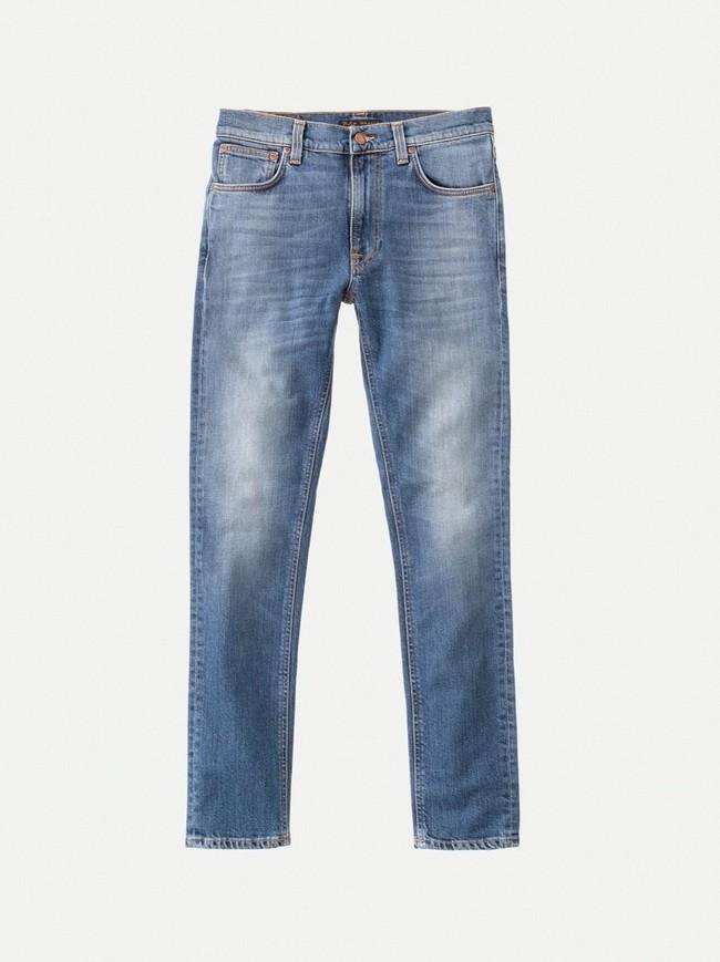 Jean slim bleu clair délavé en coton bio - lean dean pale favorite - Nudie Jeans num 3
