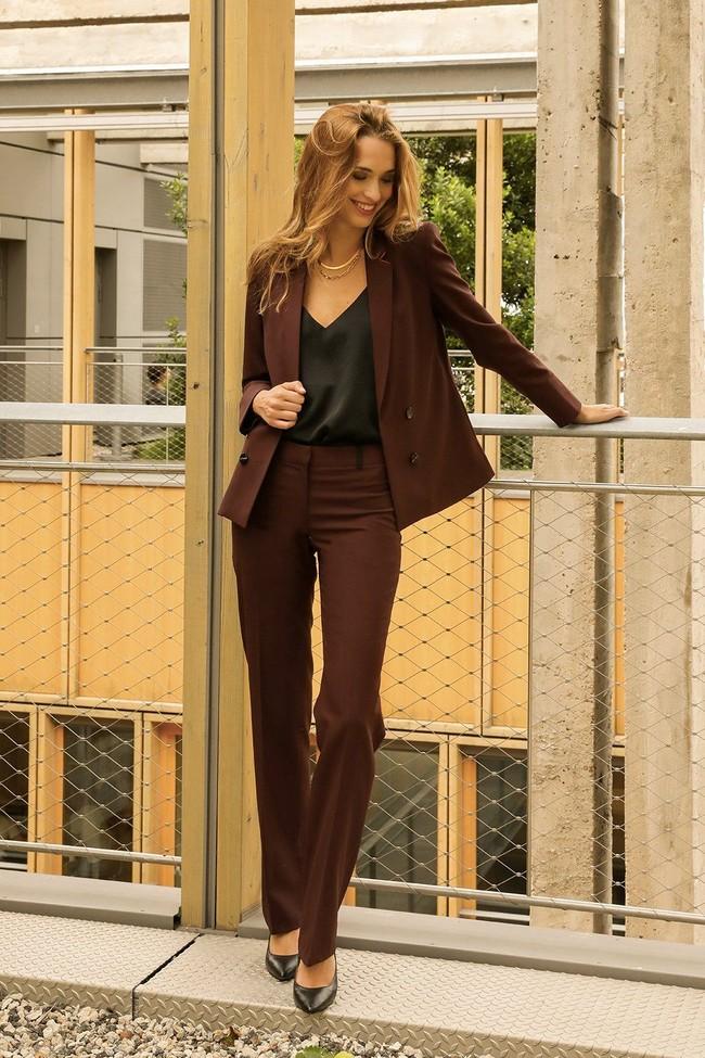 Pantalon tailleur berlin prune - 17h10 num 2