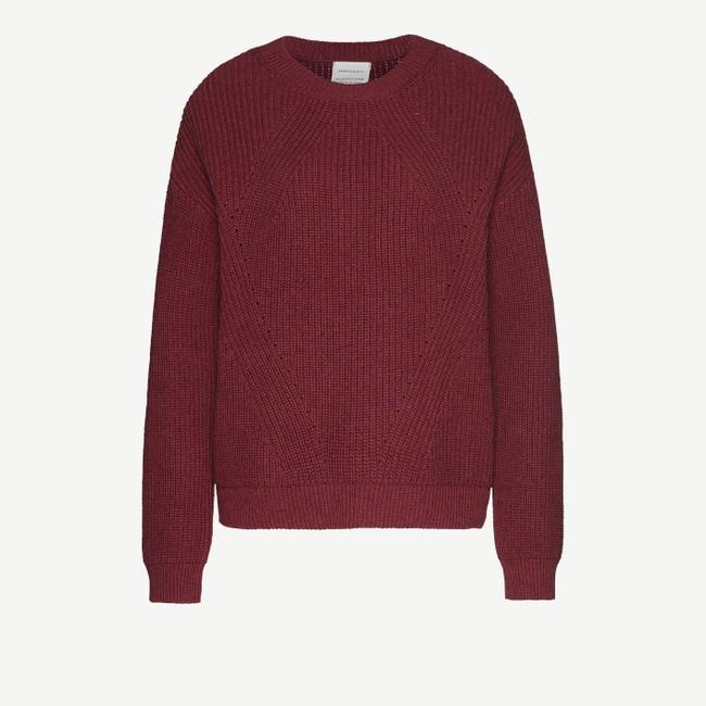 Pull rouge en coton et laine bio - melin - Armedangels num 4