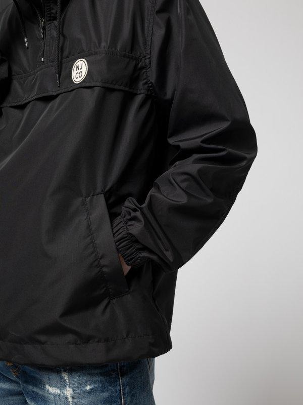 Anorak pull over noir en matières recyclées - buster - Nudie Jeans num 6