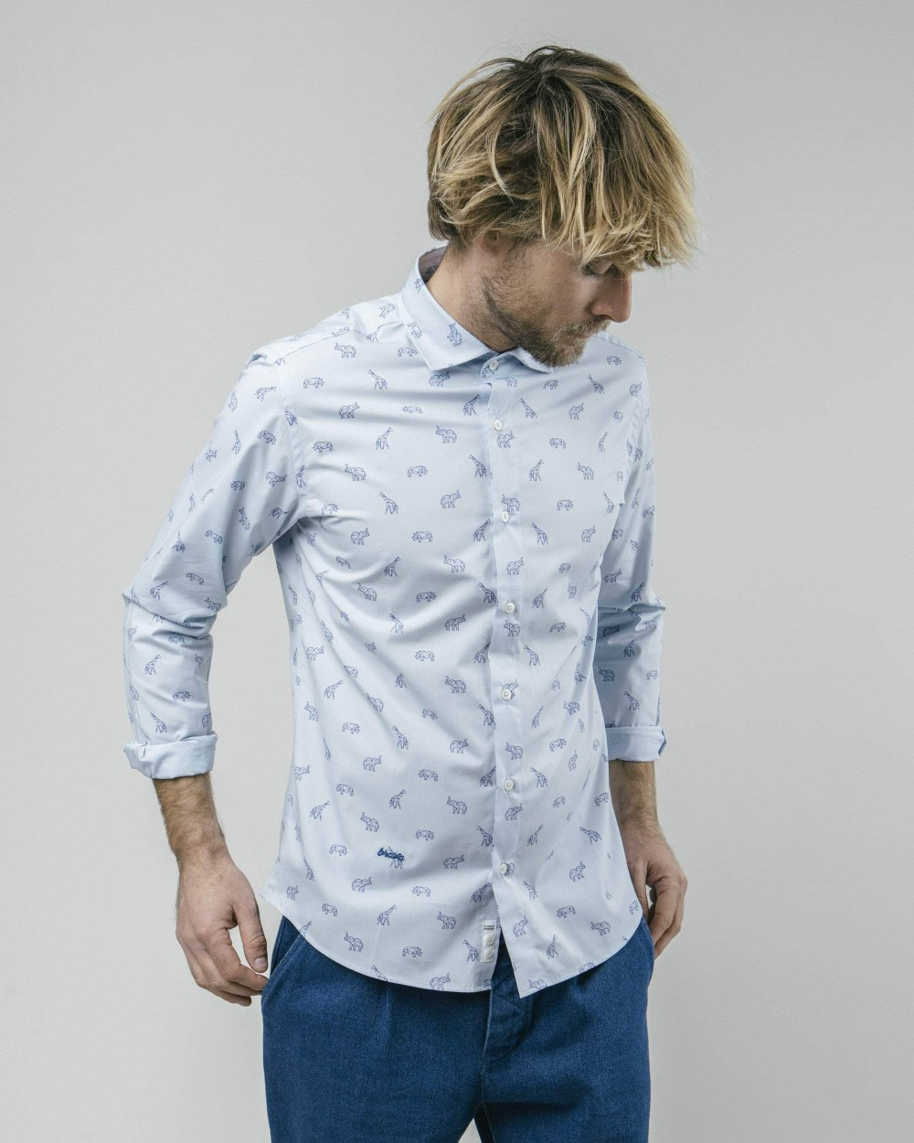 From the future to savannah printed shirt - Brava Fabrics