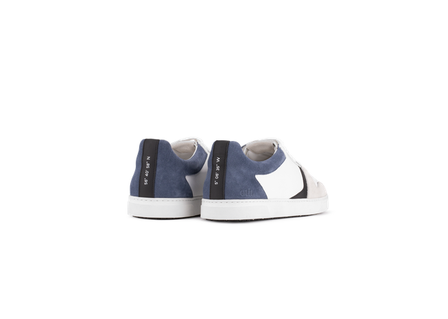 Chaussure en glencoe cuir blanc / suède bluette - Oth num 2