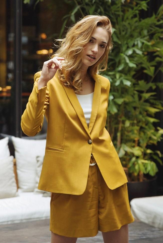 Short tailleur rome jaune safran - 17h10 num 5