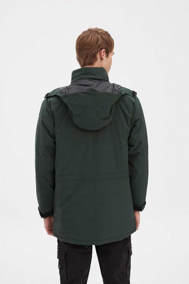 Manteau vert forêt en pet recyclé et sorona - stoway - Ecoalf num 3